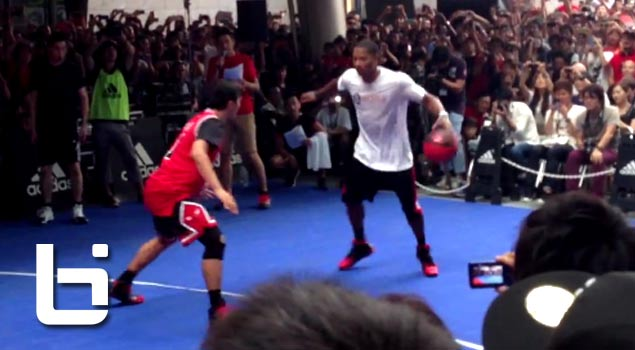 Derrick Rose Destroys Fans in Pickup in Asia