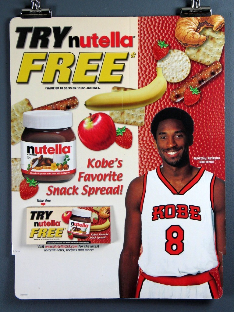 Image result for nutella kobe bryant ad