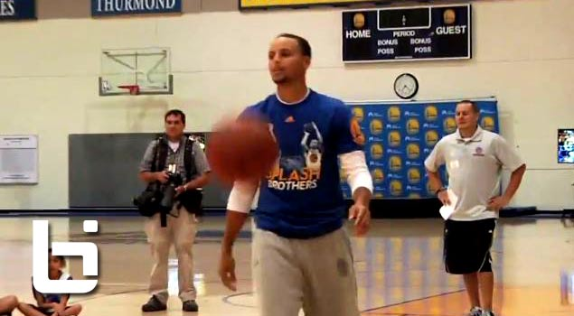 Steph Curry's Dad Dell Curry Beats Him In P-I-G Shoot Out