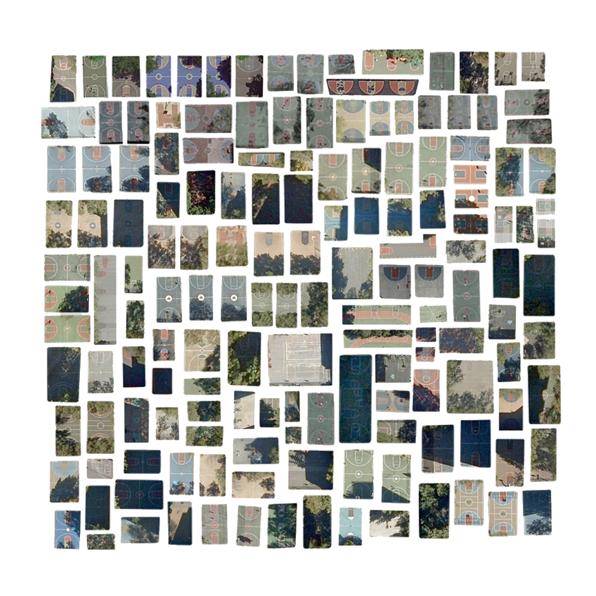 Art of the Day: Every Outdoor Basketball Court in Manhattan by Jenny Odell