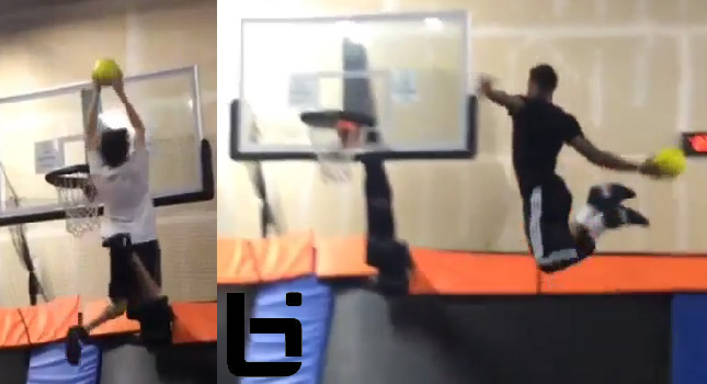 Kings rookies Ben McLemore and Ray McCallum put on a dunk exhibition at Skyzone