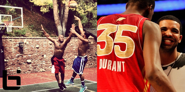 Drake Shows Off His Jumpshot To Kevin Durant Ballislife Com