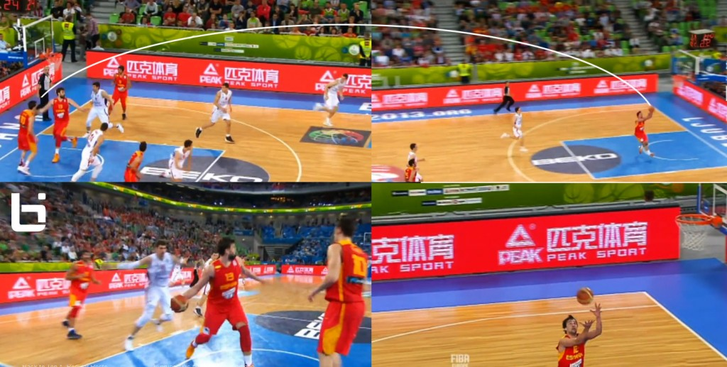 Marc Gasol with the insane full court touchdown pass | EuroBasket