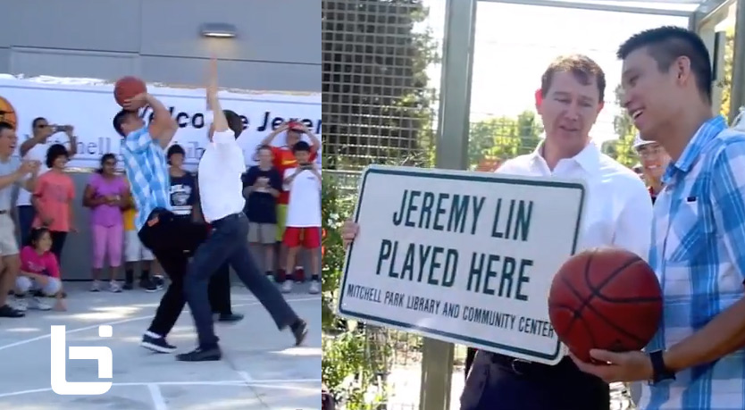Jeremy Lin plays 1-on-1 against the Mayor of Palo Alto