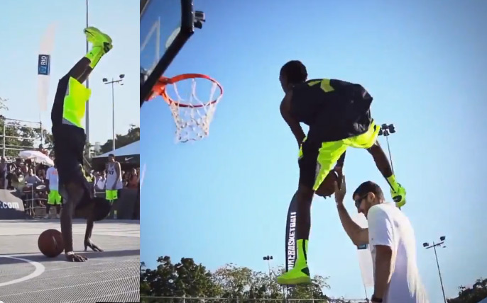 FIBA 3×3 Dunk Contest with cartwheel dunking JusFly