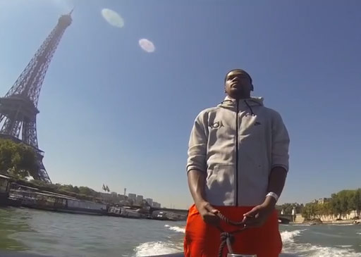 Kevin Durant in Paris – on a boat and on a court