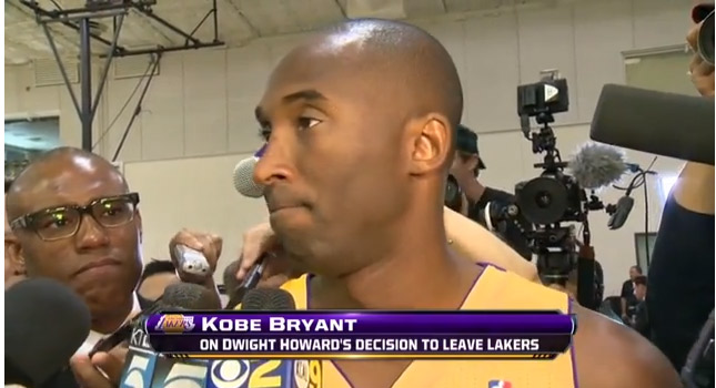"Kobe Bryant says ""I really don't give a shit"" about Dwight Howard leaving LA"