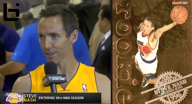 Steve Nash was informed by the NBA that he's now the oldest player in the league
