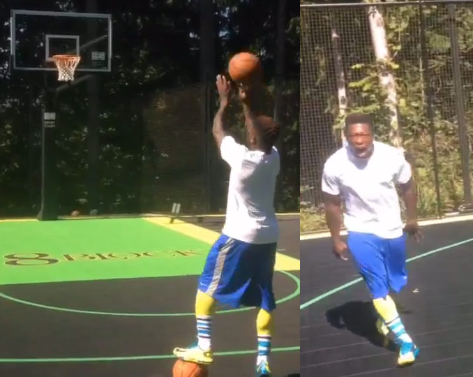 "Nate Robinson shows why he ""aint in the league for nothing"" with this jump shot"