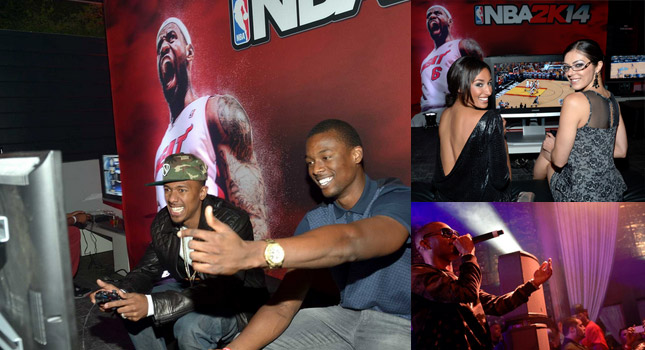 NBA players, Celebs & a bunch of hot women showed up to the NBA2k14 Premier Party
