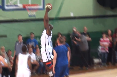 49 Year Old British Basketball Legend Peter Scantlebury Dunks in Charity Game