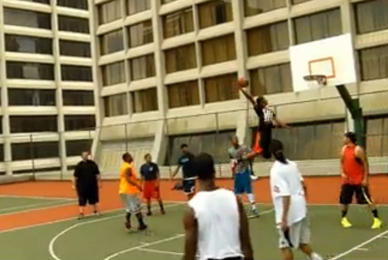 Rooftop Ball with pro dunker Chris Hoopstar Staples