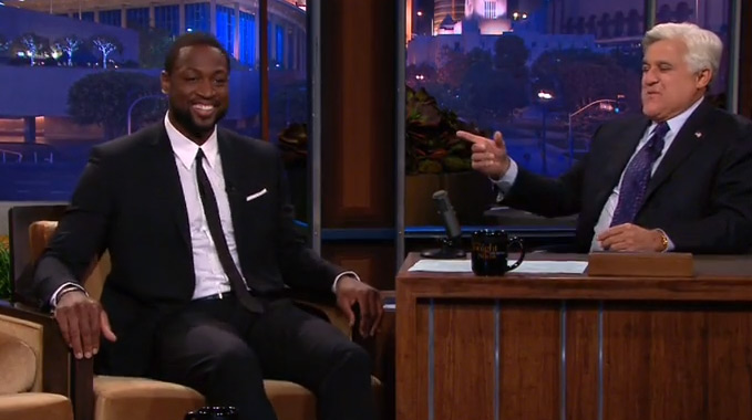 Dwyane Wade on Jay Leno talks about becoming a free agent, breaking up with Gabrielle & LeBron's wedding