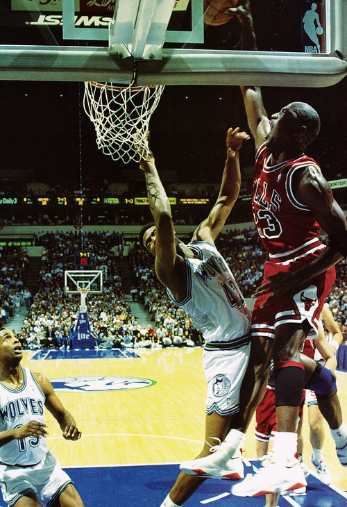 MJ of the Day: Jordan dunks on Sam Mitchell