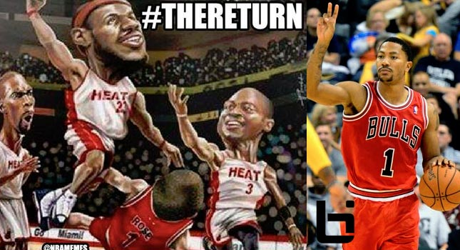Meme: How the Miami Heat Feel About The Return of Derrick Rose