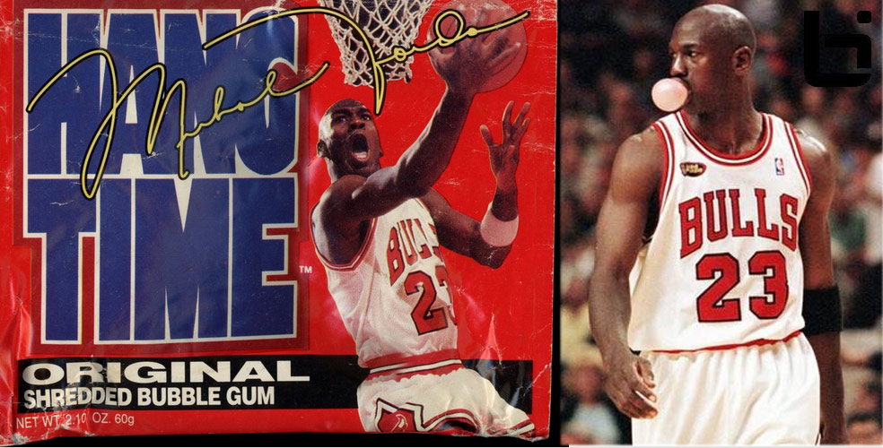 MJ of the Day: Chewing gum, blowing bubbles & HangTime Gum