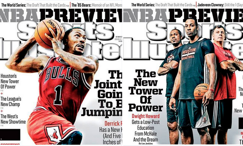 Sports Illustrated releases 4 regional covers for NBA preview issue (Rose, Curry, Howard, Nets)