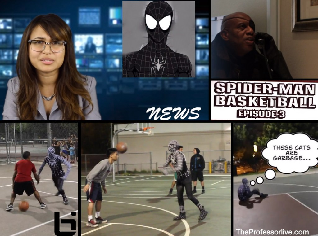 """Spiderman Basketball Part 3 """"Symbiote Catch"""" starring the Professor"""