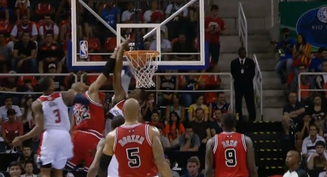 Dunk of the Day: Taj Gibson dunks on Bradley Beal and Kevin Seraphin