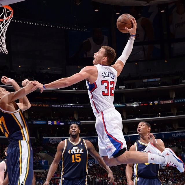 Utah's Rudy Gobert avoids getting posterized by Blake Griffin