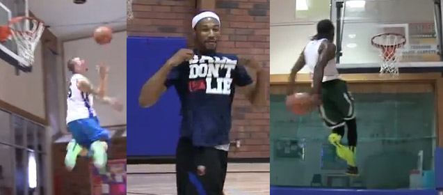 3 of the most Insane Dunks you will ever see – courtesy of Jonsey, Hoopstar, Werm…& Rachel?