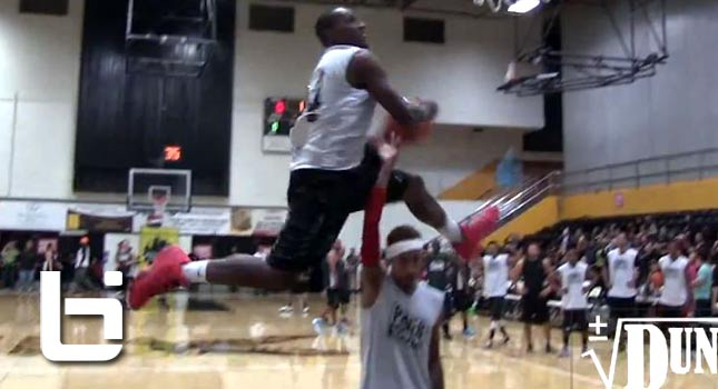 Air Dogg Crushes The Windmill Dunk Over Rapper Tyga