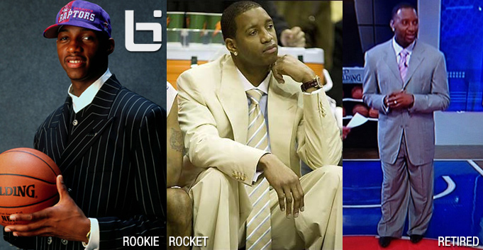 Tracy McGrady wears a ridiculous Steve Harvey looking suit on NBATV  | TMAC Suite Timeline