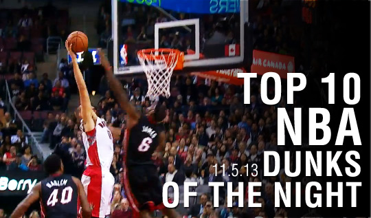 Top 10 Dunks of the Night | Jonas, JaVale, LeBron, PG & more (11.5.13)