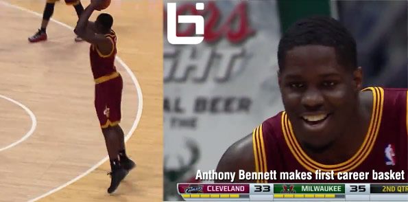 #1 Pick Anthony Bennett Finally Makes a Field Goal in his 5th Game | Finishes game with 3 points.