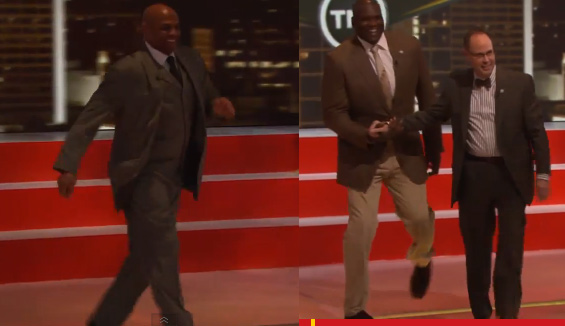 Shaq, EJ & Charles Barkley mock Kenny Smith's jog on Inside The NBA