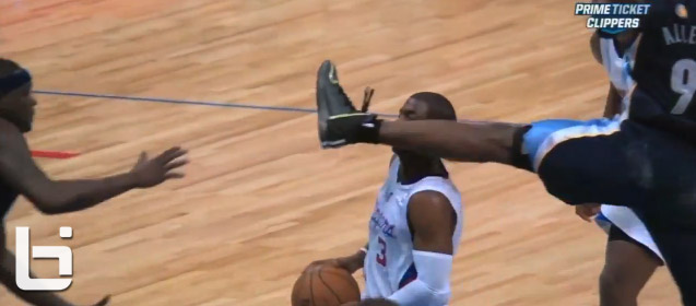 Tony Allen ejected for kicking Chris Paul in the face