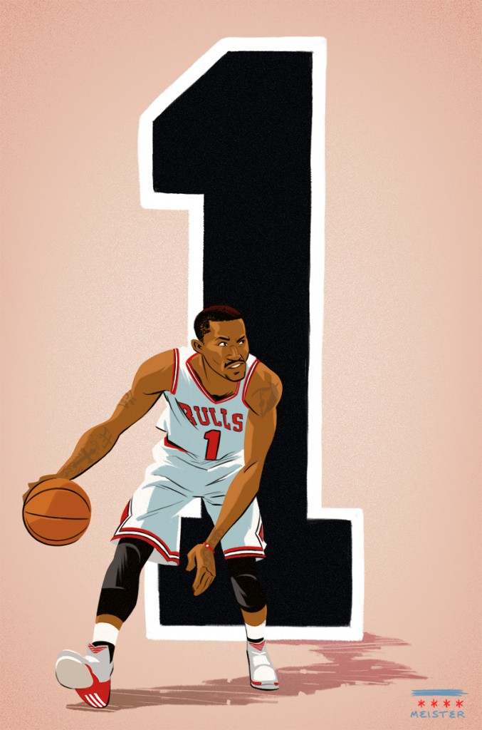 Art of the Day: Derrick Rose #1