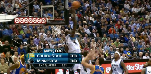 Block of the Night | Gorgui Dieng Swats Klay Thompson's Layup