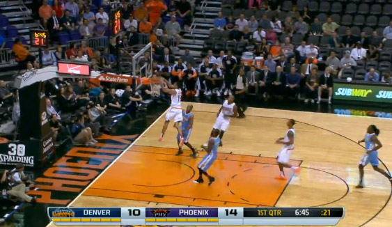 Gerald Green's head at the rim alley-oop dunk