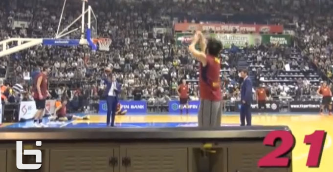 Juan Carlos Navarro makes 21 3-pointers during warm-ups