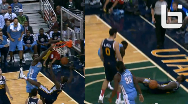 J.J. Hickson puts Marvin Williams on a poster and the floor with a power dunk