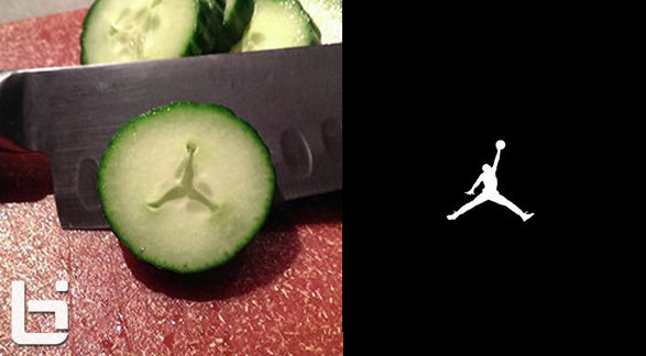 Man finds Jordan logo inside of a cucumber…