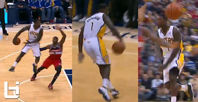 Lance Stephenson's 3 amazing assists vs the Wizards