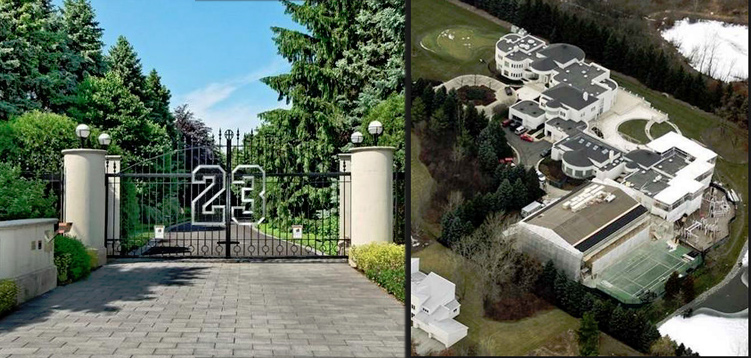Video Tour of Michael Jordan's $30+ Million Mansion | For sale
