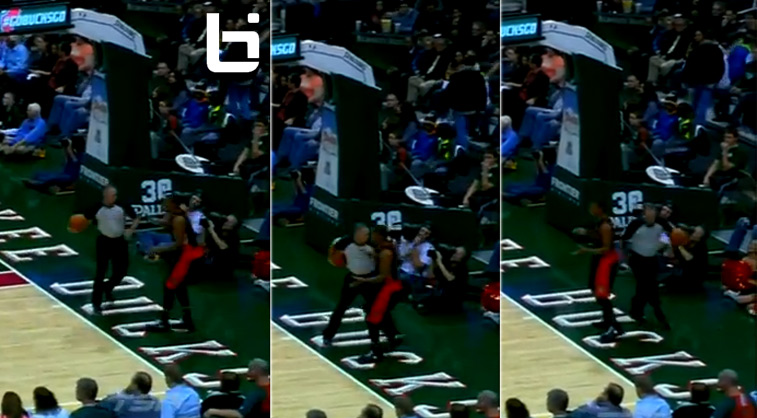 Ballislife | Ref fakes out Kyle Lowry