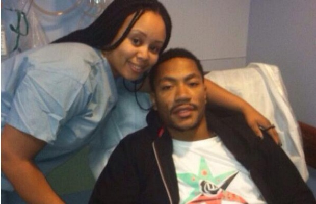 Derrick Rose poses with nurse after surgery | Out for season