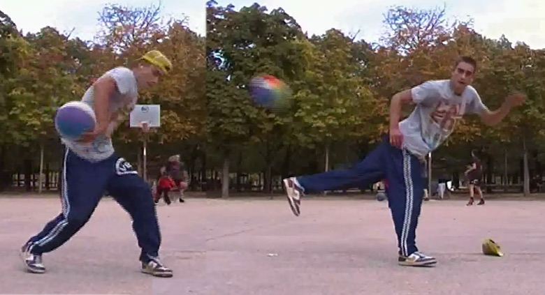 Kyle The Shrimp shows off his freestyle basketball skills