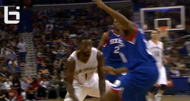 Tyreke Evans crossover on Hollis Thompson