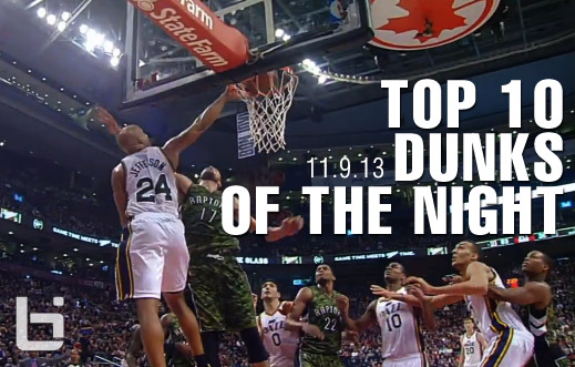 Top 10 Dunks of the Night: Green, Jefferson, KG, DJ & more (11.9.13)