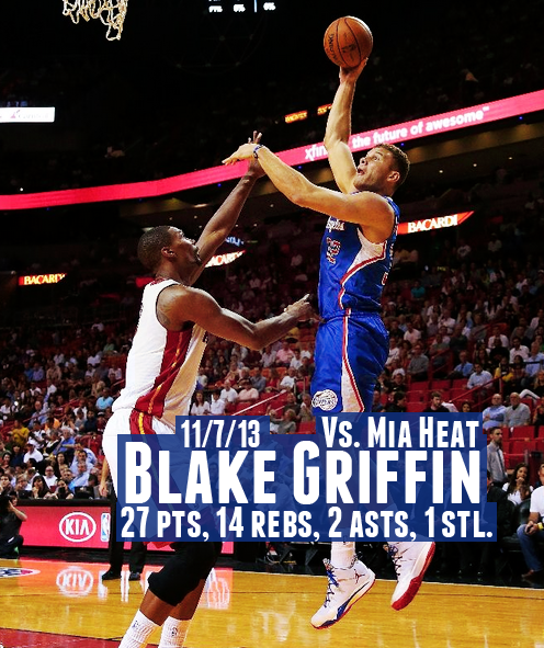 Blake Griffin scores 27 points, makes a 3 pointer & dunks ...