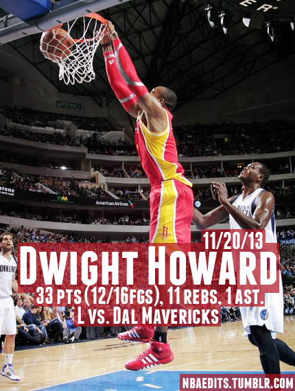 Dwight Howard goes off for 33 vs the Mavs after Hakeem goes off on Dwight in interview