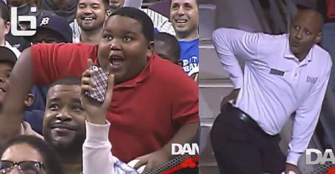 Watch out Terio! Fat kid vs an usher dance contest at Pistons game