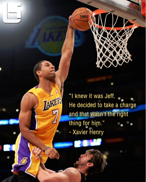 Lakers Xavier Henry wi...