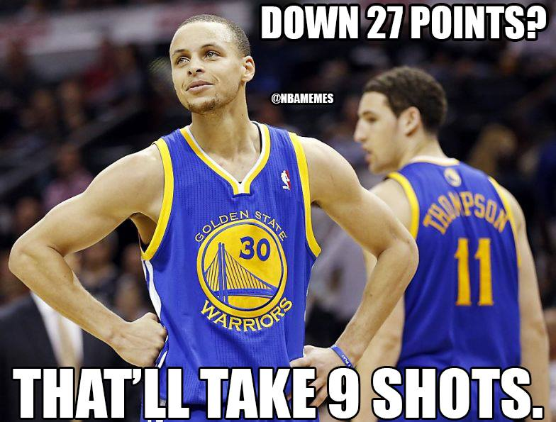 Steph Curry goes off in Warriors' 27 point comeback win vs Raptors