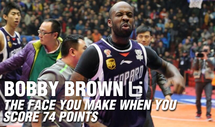 Bobby Brown scores 74 points and the game winner in China!